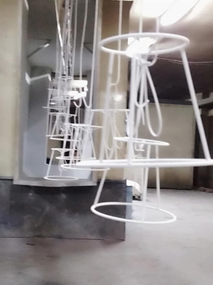 Abajur telleri toz boyama